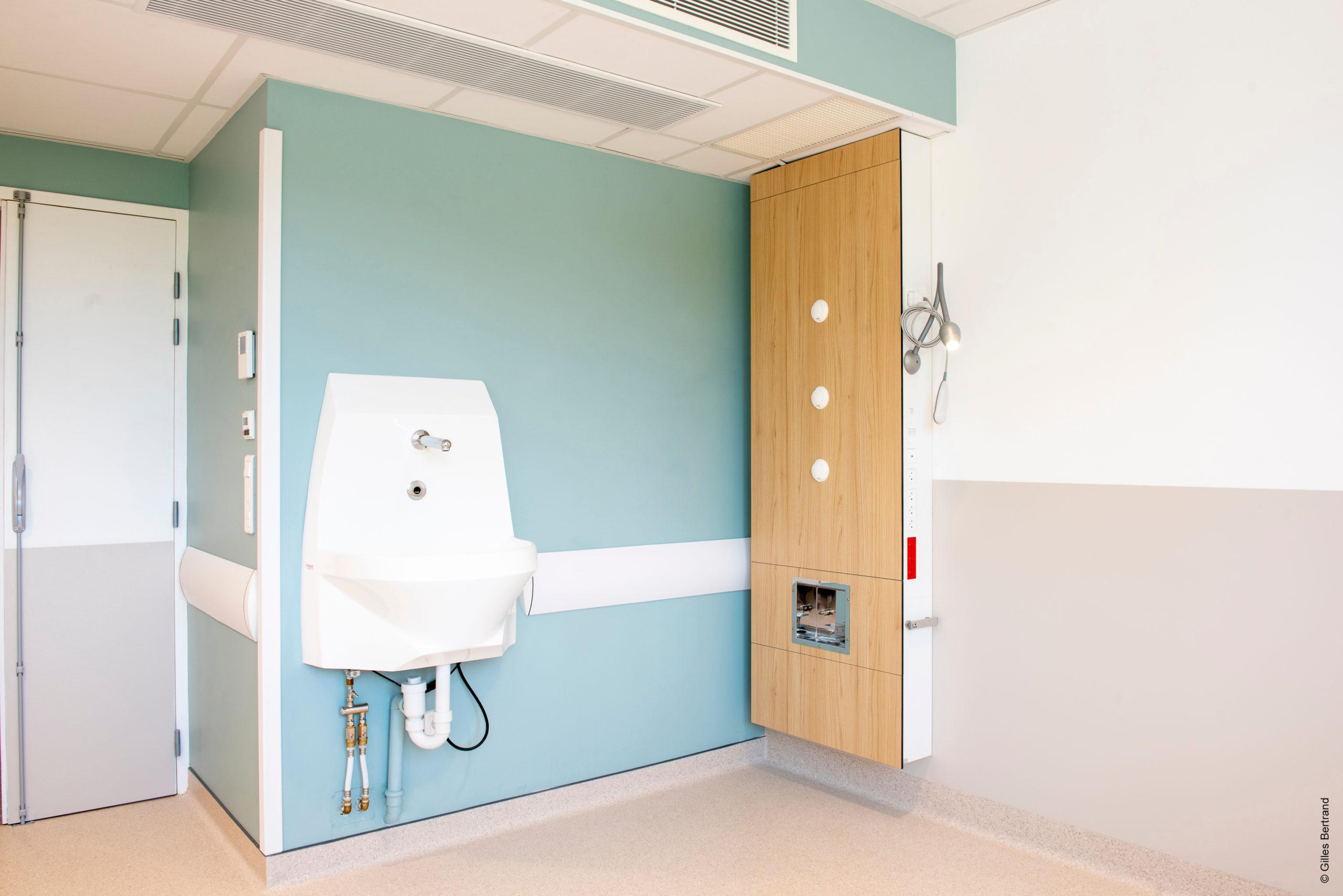 lave mains pour hôpital